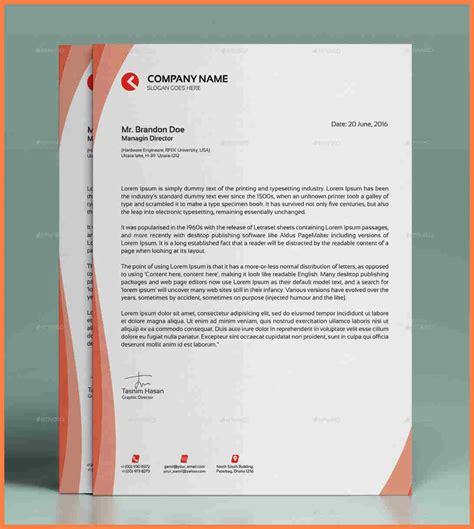modern business letterhead 6 modern letterhead template company letterhead