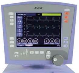 carefusion avea ventilator featuring artificial arway and leak compensation