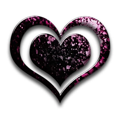 black pink heart triple hearts heart icon 031505 187 icons etc