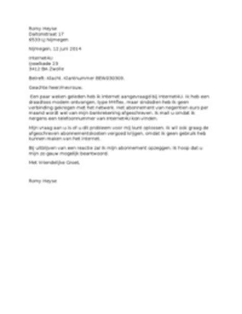 Zakelijke Briefformat Klachtenbrief Stuvia