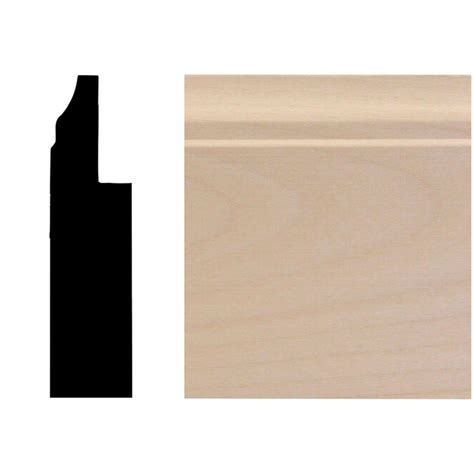 Wainscot Base Moulding House Of Fara 3 4 In X 3 In X 96 In Basswood Wainscot