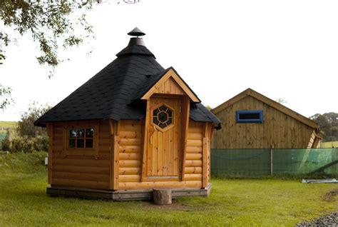 L Hut by Bbq Huts Wildforest Log Cabins