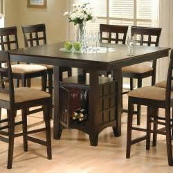 Dining Table With Storage For Chairs Hyde Counter Height Dining Table With Storage Pedestal Base Dining Tables Dining Room