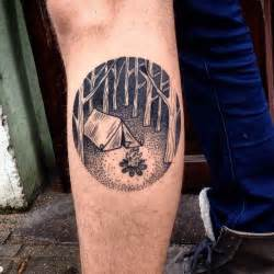 dotwork tattoos dotwork campfire tattoo by martynas šnioka best tattoo ideas gallery