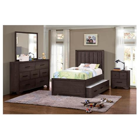 granite falls  piece full bedroom set el dorado furniture
