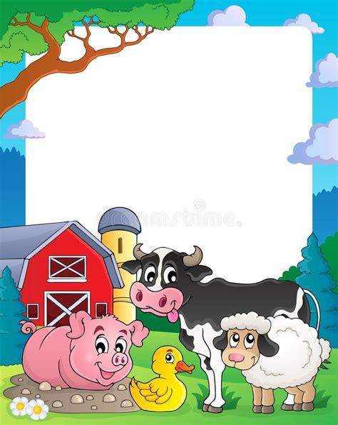 george cornici farm theme frame 2 stock vector image of illustration