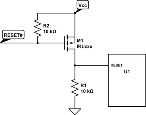 transistor restart reset ic buffer manually electrical engineering stack exchange