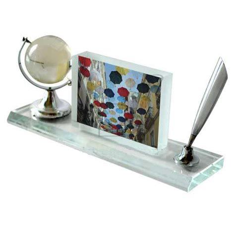 articoli da scrivania cristallo da scrivania con foto idee regalo originale