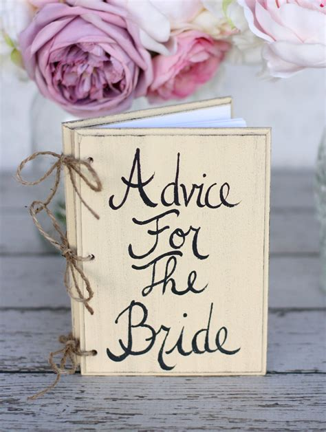 bridal shower advice ideas bridal shower guest advice book shabby chic wedding decor