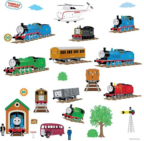 thomas the tank engine and friends peel and stick wall