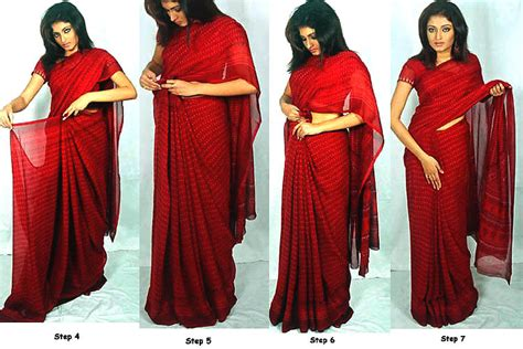 8 Simple Steps To Tie A Sari by How To Wear A Saree Kaif Sarees Indian Bridal