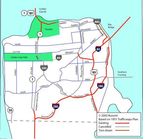 san francisco freeway map freeway maps quotes