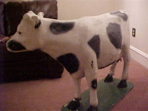 How To Make A Paper Mache Cow - vintage papier paper mache kraft store display cow
