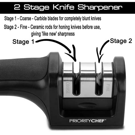 how to use a blade sharpener prioritychef knife sharpener review living a