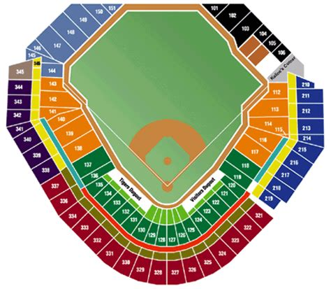 comerica park seating sections comerica park comerica park seating chart comerica park