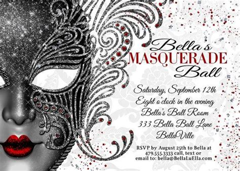 25 best ideas about masquerade party invitations on