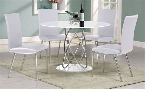 white high gloss dining table 4 chairs