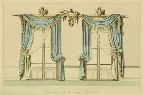 drawn curtains regency era curtains and hand drawn on pinterest