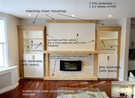 ikea bookcases around fireplace studio kosnik search results for billy bookcase living
