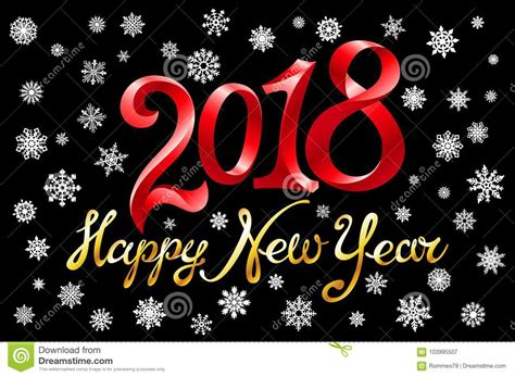 happy new year element vector design 2018 happy new year design element for presentations