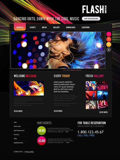 night club joomla template 35523