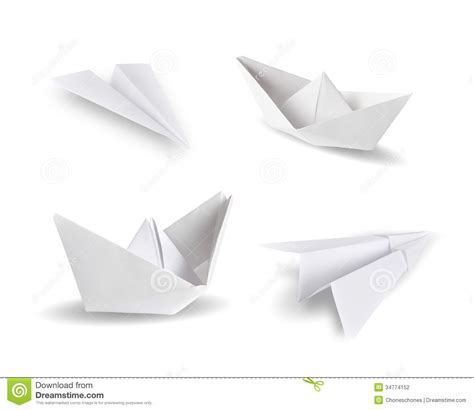 White Origami Paper - origami stock photography image 34774152