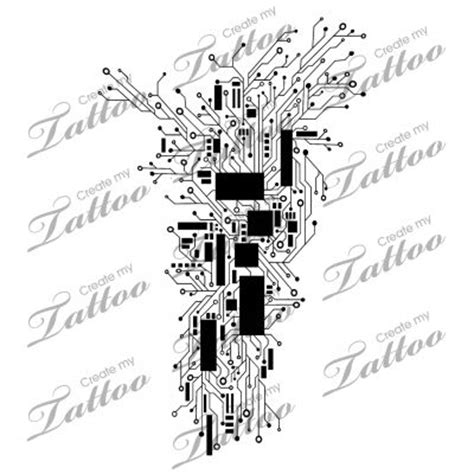cyber tattoo designs marketplace abstract circuitry computer cyber