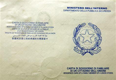 rinnovo carta di soggiorno per motivi familiari italian permesso di soggiorno