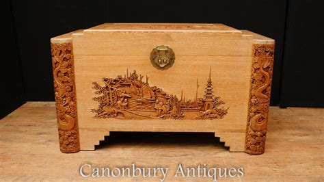 items in richards vintage photos store on ebay antique hand carved chor wood chest trunk hong kong