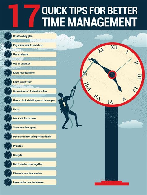 how to time manage better 17 tips for better time management visual ly