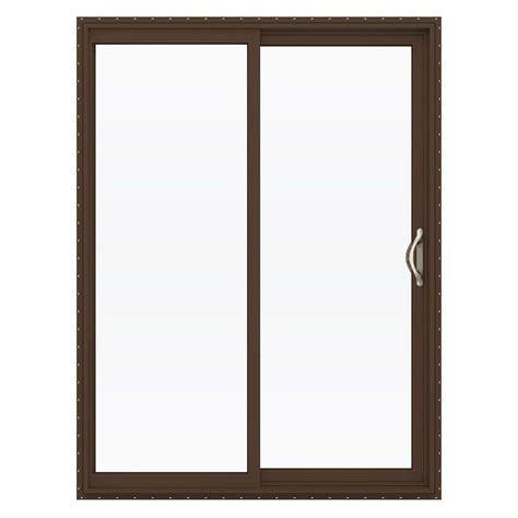 Jeld Wen Patio Door Hardware Jeld Wen 60 In X 80 In V 2500 Series Vinyl Sliding Low E Glass Patio Door Thdjw181500158 The