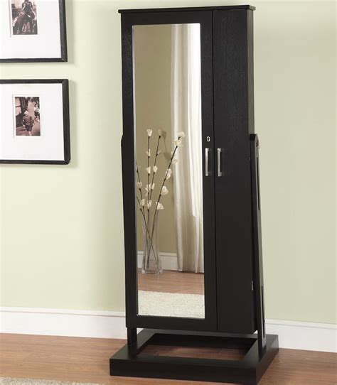 stand alone mirror jewelry armoire home design ideas