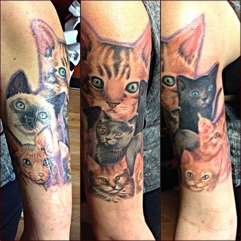 tattoo sleeve cat pin by nanaofsix2 on tattoos for women pinterest