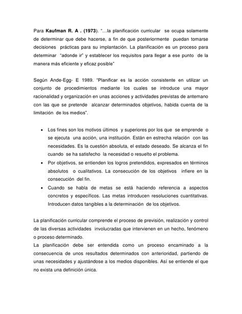 Modelo De Planificacion Curricular Segun Planificacion Curricular
