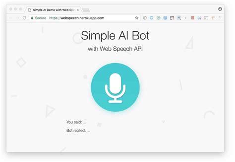 simple node js api building a simple ai chatbot with web speech api and node js
