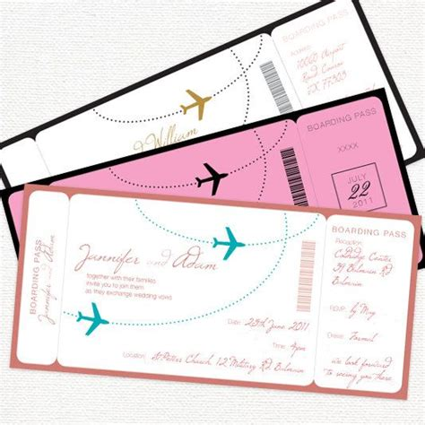 flight ticket wedding invitation template 17 best ideas about aviation wedding on pilot
