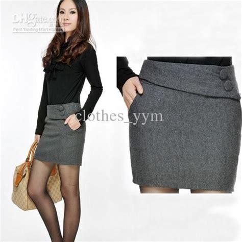 Fashion work dress suit skirt slim women s pockets skirt casual dress