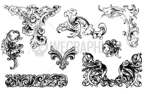 baroque pattern brush baroque ornament vectors vol1