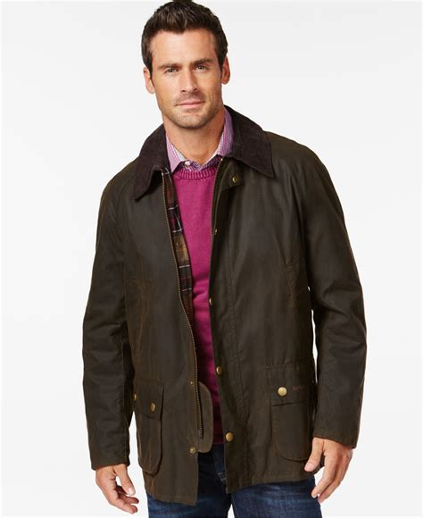 barbour jacket barbour s ashby wax jacket in green for lyst