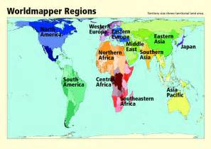 regional map worldmapper the world as you ve never seen it before