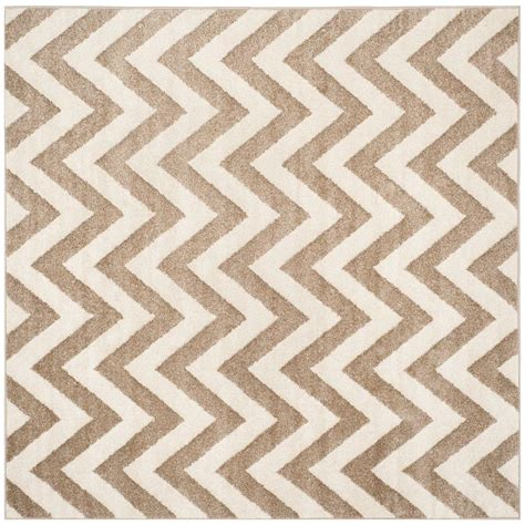 Square Indoor Outdoor Rugs Safavieh Amherst Wheat Beige 7 Ft X 7 Ft Indoor Outdoor Square Area Rug Amt419s 7sq The Home