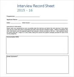 sample interview score sheet 9 free documents in pdf