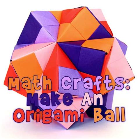 Origami Math Projects - math crafts make an origami woo jr activities