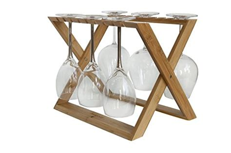 Countertop Drying Rack by Hangover Wine Glass Rack Foldable Countertop Bamboo