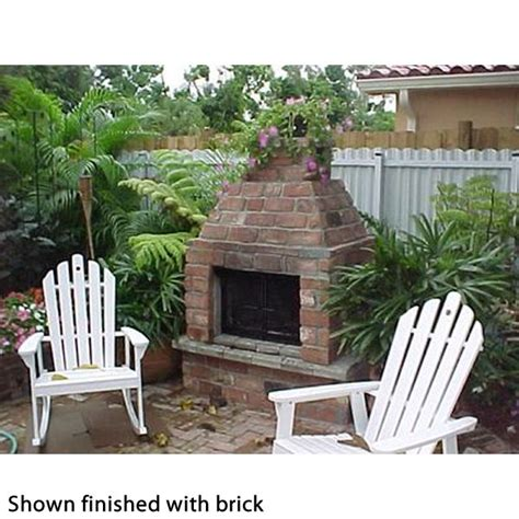 mirage outdoor fireplace mirage 3 sided wood burning outdoor fireplace