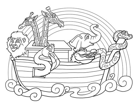 noah s ark coloring page noah ark printable coloring pages