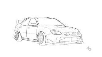 Subaru Drawing Subaru Sketch By Desneaky On Deviantart