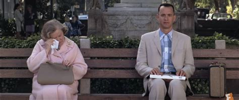 forrest gump park bench scene what is the best movie bench scene of all time