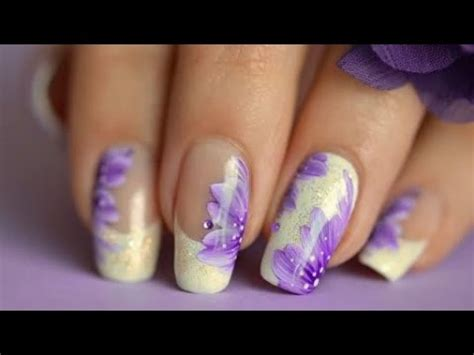 nail design flower youtube nail art fast easy french manicure flower youtube