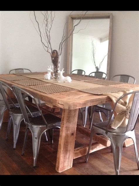 17 best ideas about timber dining table on